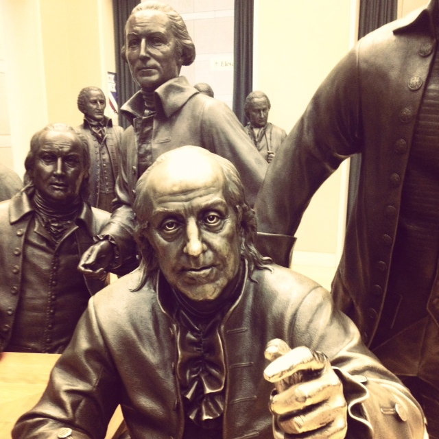 up close and personal with the founding fathers