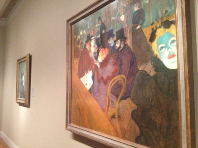 I took a photo of Toulouse-Lautrec's At the Moulin Rouge just like all of the other tourists