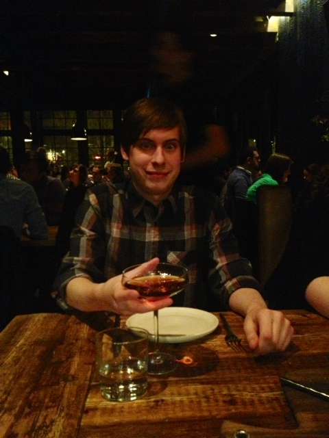 Ben and his fancy drink