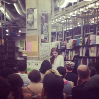 rachel reading @ st. mark's bookshop