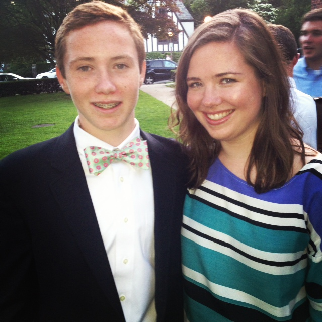 me + aidan at middle school graduation