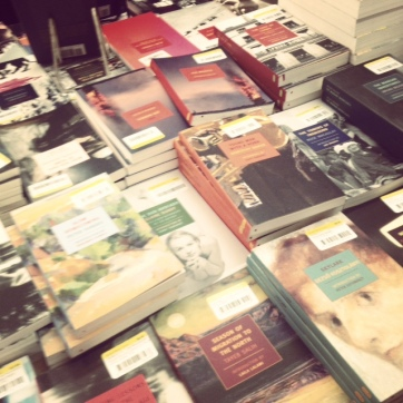 nyrb book table at the strand
