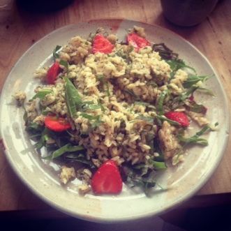 brown rice salad at eat in greenpoint