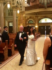 here comes the bride! (photo credit: chelsea)
