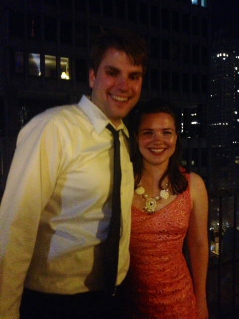 bryan & me at the wedding after party. (literally the only picture from the after party where my eyes are open.)