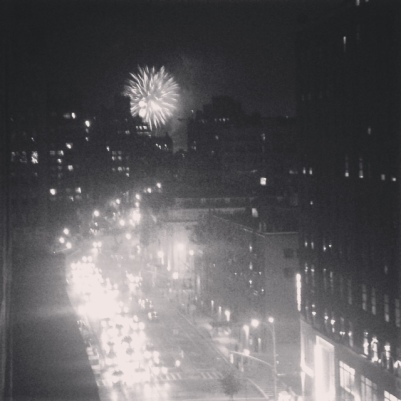 fireworks from liza's balcony on the last day of the month