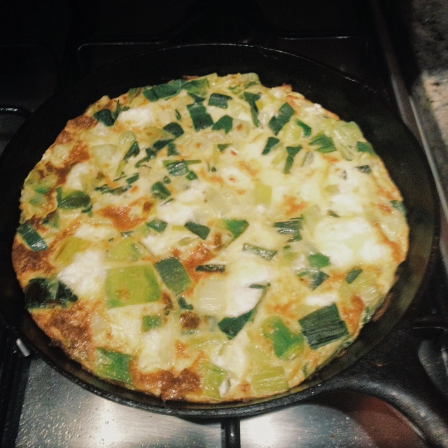 Recipe Test: Lemon Frittata with Leeks and Goat Cheese