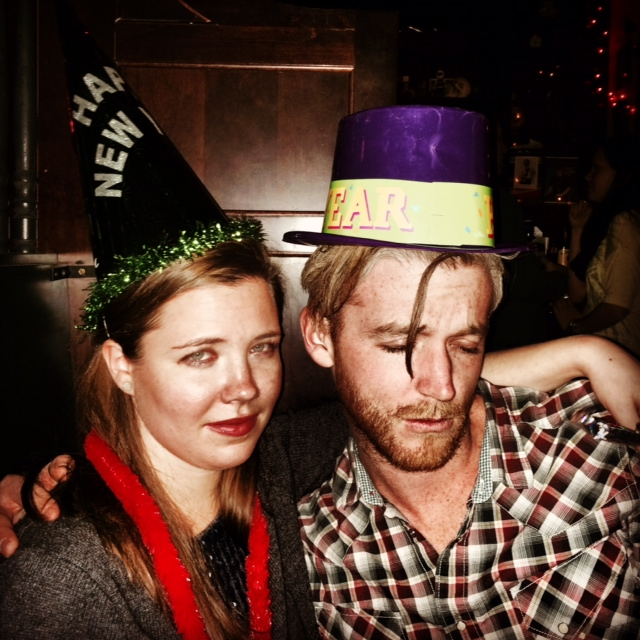 and i leave you with this, the only photo i have of myself on new year's eve, in which i look very, very ready to take on 2014